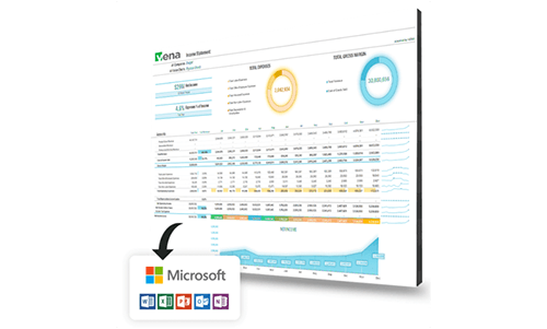 Vena planning, budgeting and forecasting software - real-time reports and models